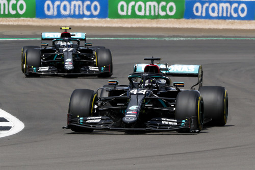Business as usual: vorn Hamilton, dahinter Bottas.
