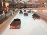 Porsche Experience Center in Shanghai: Modelle hinter Glasscheiben.
